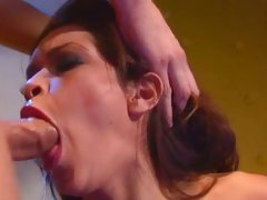 Stunning Daisy Dukes deep throats a huge fuck stick