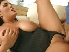 Big titty babe Jasmine Black loves a hard cock pounding
