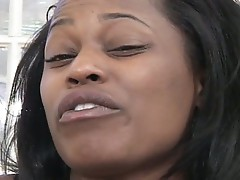 Monster black dong stuffing horny ebony hungry cunt