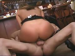 Horny babe fucked hard by a big dick !