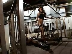 Sizzling hot brunette whore riding monster black cock