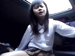 Asian Fucking in the car