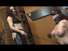 Horny slut tortured the tattooed slut !