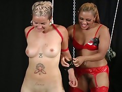 Maxines ties up a dirty slut and punishes her for her crimes!