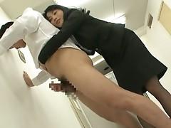 Natsumi Kitahara ass licks her guy cock