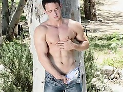 Preston Dean likes running his hands all over his smooth muscular Jock body and working his thick delightful dong.