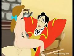 Belle rides on Gaston's big cock