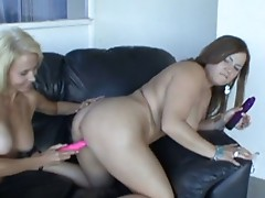 Blond Granny Erica Fingered By Younger Girl