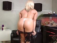 Horny slut fucked hard by a stiff cock