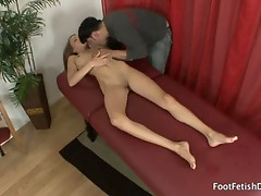 Victoria rae black gets a foot rub and feet kissed