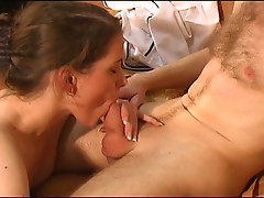 Gorgeous european couple have passionate blowjob