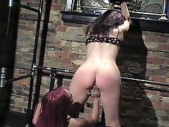 Colored head girls spanking to another japanese girls !