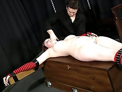 White which bondage crusifix slave training