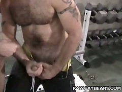Horny gay bear threesome with simon august and jeff baron