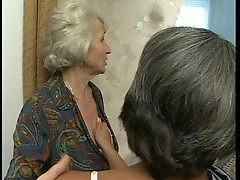Lesbian grannies masturbate to young horny men
