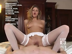 Horny monica sweetheart ridinig huge cock like there is no stopping
