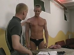 Gay hunk gets slammed in the ass
