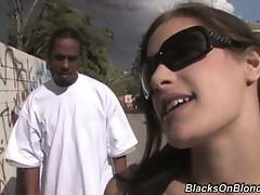 White Babe Loves Black Cock-fucking