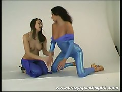 Lesbian hot slut that loves spandex fucking