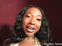 Tiffany staxxx wrapped her lips around white dick