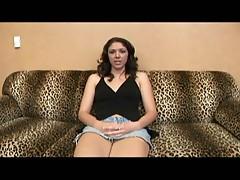 Brunette teases before she gets fucked