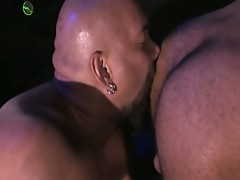 Hunter eating a horny ass-hole