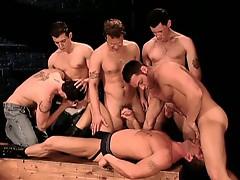 Hardcore gay orgy anal gang fucking nasty session