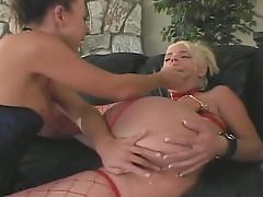 Two horny chicks enjoy anal fuck