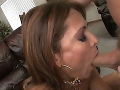 Sweet blowjob fuck action for this hot babe