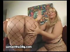 Horny white bbw bitches samantha and sienna enjoying lesbian sex.