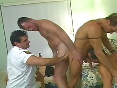 Nasty gay bears sizzling foursome fuck