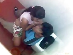Teen Rides Her BF On A Toilet Upskirt