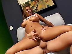Busty porn star gets all wrapped up in this hot fuck scene