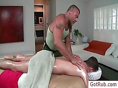 Dude getting his cock and ass rubbed by gotrub