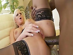 Phoenix Marie sucks a bit on Lexington Steele's big hard dick