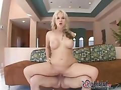 Blonde bombshell Sarah Vandella sucks and fucks so damn well