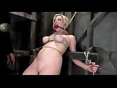 Blonde babe gets the full treatment while tied up and tortured