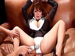 Hitomi Tanaka gets her large boobs played with and sucks dick