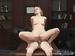 Cytherea gives a blowjob and then sticks the hard cock in her pussy