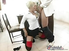 Kathy Anderson is a good secretary who loves to fuck her boss