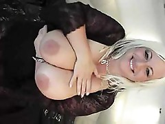 White blonde sucks on a cock to get it hard so she can fuck