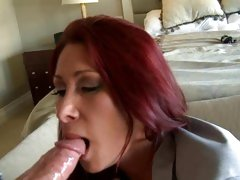 Slapper Tiffany Mynx gobbles down this fuck stick