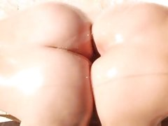Alluring Gracie Glam & Alexis Texas rub ass cheeks