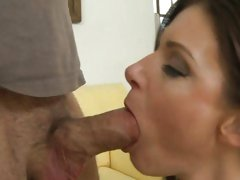 Whore India Summers slurps on this throbbing prick