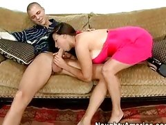 The sexy wet pie hole of Selena Steele gets wrapped around a lucky prick