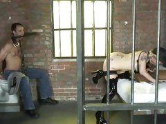 Candy Monroe gets her cuckold to watch her suck dick