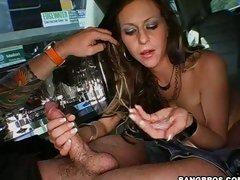 Rachel Roxx is hooked on cum so she sucks and fucks till she gets soaked