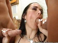 Carmella Bing won't stop taking cocks in her mouth until she chokes