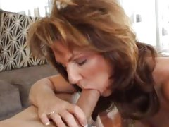 Trashy Deauxma slurps on this throbbing spunk monkey