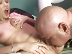 Samantha Sin gets her pussy licked then stuffed with a dildo